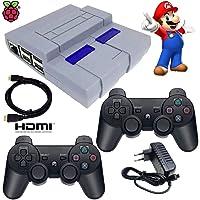 Video Game Super Nintendo clássico Recalbox Raspberry Pi3 2 Controles PS3 S/Fio - HDMI