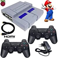 Video Game Super Nintendo clássico Recalbox Raspberry Pi3 2 Controles PS3 S/Fio - HDMI