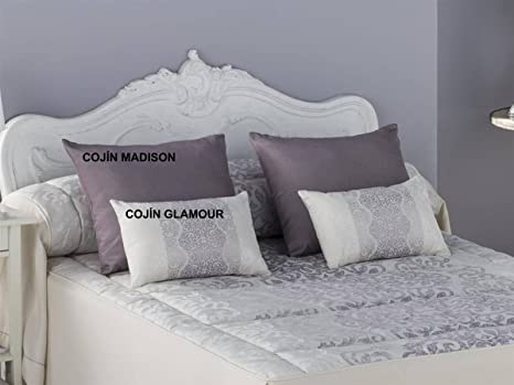 Tejidos JVR - Cojín Glamour 30x50 cm - Color Malva con Relleno
