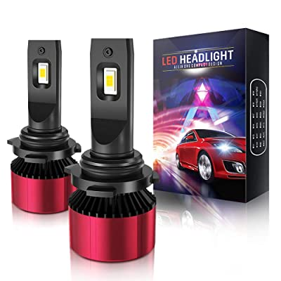 9012 Led Headlight Bulb, AOLEAD 80W High Power 16000LM 6000K Extremely Bright CSP Chips HIR2 Conversion Kit: Automotive