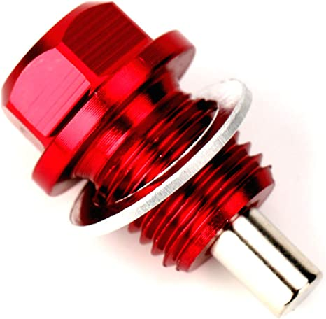 Red Magnetic Sump Plug VW Polo Coupe Washer