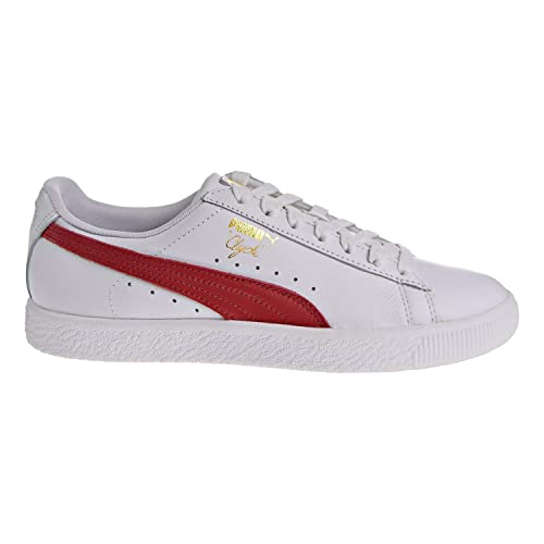 12915cfc9066 PUMA Women s Clyde Core L Foil Puma White Barbados Cherry Puma Team Gold  Athletic Shoe  Buy Online at Low Prices in India - Amazon.in