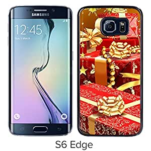 New Beautiful Custom Designed Cover Case For Samsung Galaxy S6 Edge With Rich Christmas Gifts Phone Case