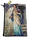 Nazareth Store Blessed Virgin Mary Cloth Rosary Case Holy Land Gift Zipper Close Pouch Tapestry Prayer Catholic gifts