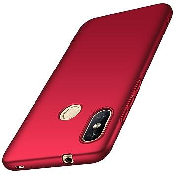 anccer Funda Xiaomi Mi A2 Lite Ultra Slim Anti-Rasguño y Resistente Huellas Dactilares Totalmente Protectora Caso de Duro Cover Case para Xiaomi Mi A2 Lite (Rojo Liso): Amazon.es: Electrónica