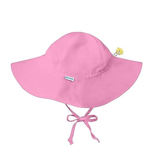 55f5c107ce9 Iplay Baby Infant Toddler Unisex UPF 50 Solid Brim Sun Hat (Light Pink