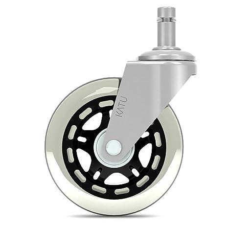 Katu Rollerblade Ruedas de ruedas para silla de oficina Set de 5 - Repuesto de goma