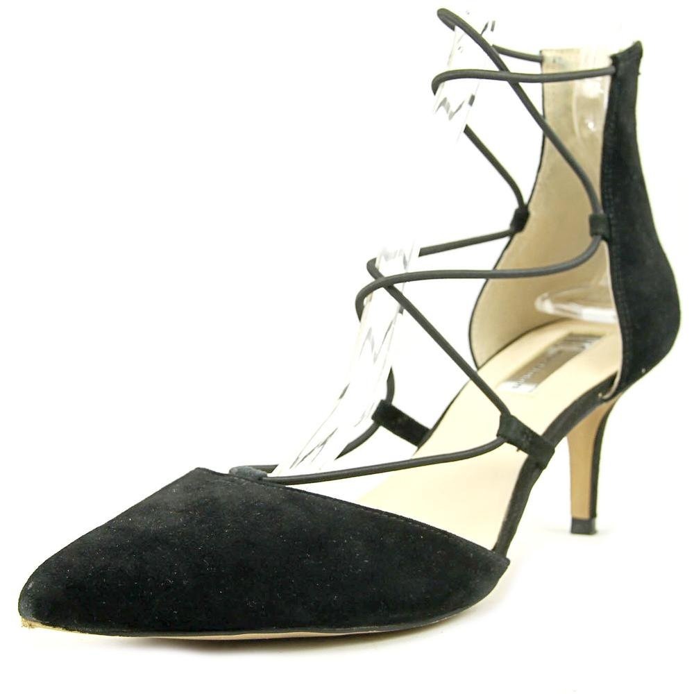 INC International Concepts Daree, D-orsay Pumps Frauen, Spitzenschuhe, Knoechel Riemen, Leder38.5 EU|Black