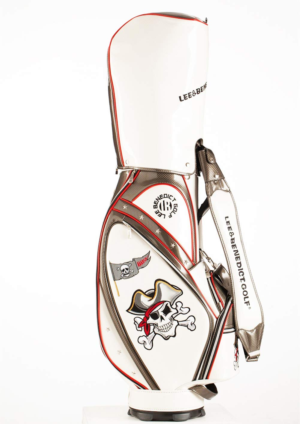 L&B キャディバッグ ゴルフバック 9.5インチ 約4.95kg ユニセックス LB1801  ホワイト B07MJKJQMQ