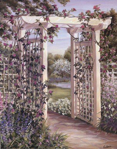 - Garden Escape I by Carol Saxe - 16x20 Inches - Art Print Poster