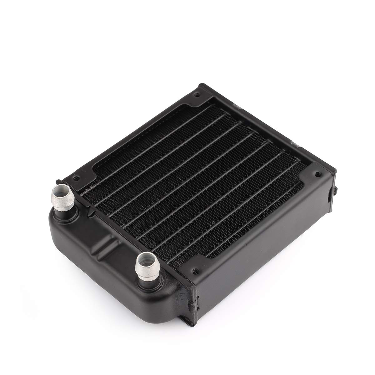 Clyxgs 8 Pipe Aluminum Heat Exchanger Cooling Water Drain Water Cooling Radiator Water Cooling Row with Radiator for PC CPU CO2 Laser Water Cool System Computer 240mm/360mm (80mm)