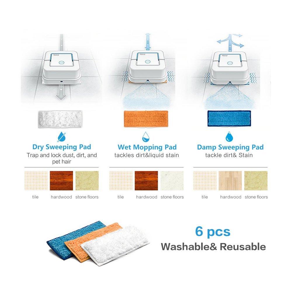 YIMALER 6pcs lavable almohadillas de limpieza Accesorios para iRobot Braava Jet 240 241: Amazon.es: Hogar