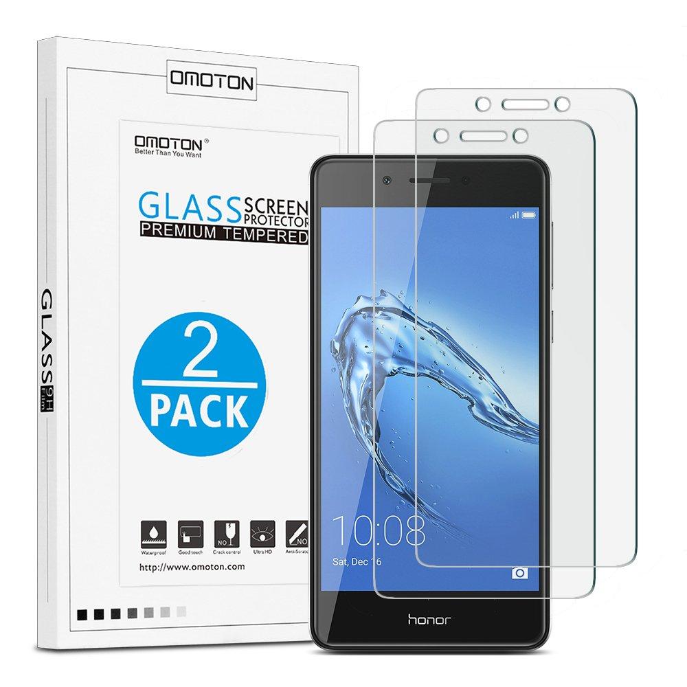 [2 Unidades] OMOTON Honor 6C Cristal Templado [2.5d Borde] Huawei Honor 6C Protector de Pantalla [9H Dureza][Anti-aceite] Sin Burbujas: Amazon.es: ...