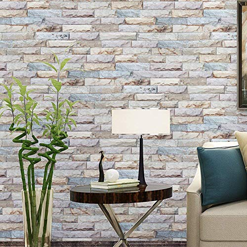 Peel and Stick Wallpaper Brick Removable Wallpaper 3D Effect Textured Contact Wallpaper for Bedroom 17.7