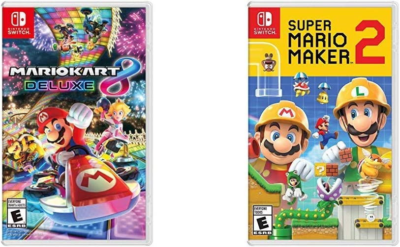Amazon Com Mario Kart 8 Deluxe Nintendo Switch Bundle