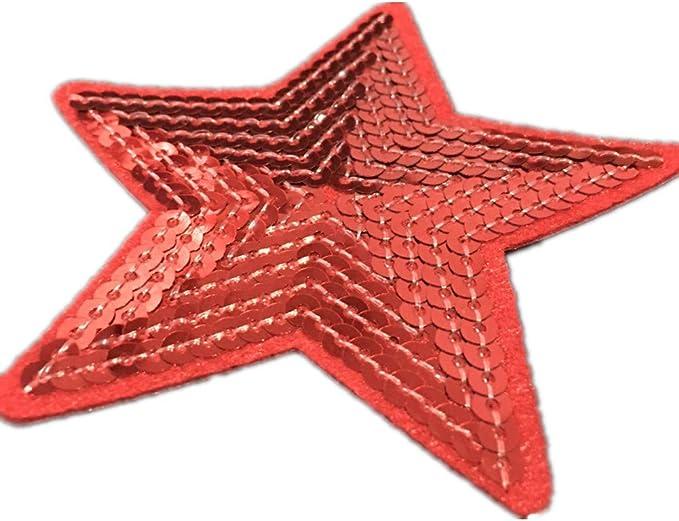 Parches de lentejuelas con forma de estrella, 5 unidades, se ...