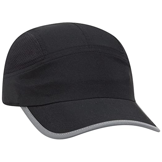 90bc580d9bd OTTO 5 Panel Polyester Pongee Running Cap - Black at Amazon Men s ...