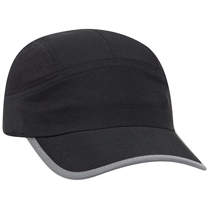 708d2d6f19f OTTO 5 Panel Polyester Pongee Running Cap - Black at Amazon Men s ...