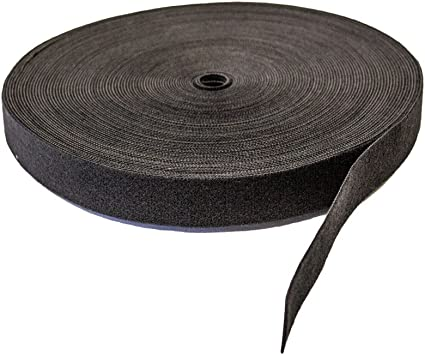 NavePoint 1//2 Inch Roll Hook and Loop Reusable Cable Ties Wraps Straps 25M 82ft