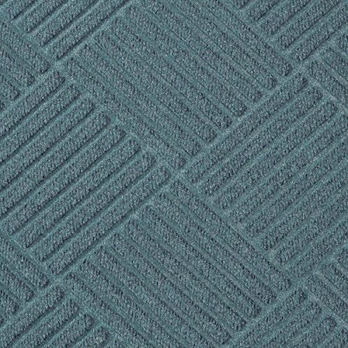 Waterhog Premier Fashion Bluestone 3' x 23.8' Entrance Mat - Gripper Back, Fabric - Fabric Bluestone