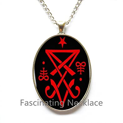Amazon fashion necklace occult sigil of lucifer satanic fashion necklaceoccult sigil of lucifer satanic pendant statement necklace cheap jewelry collar small gift aloadofball Choice Image
