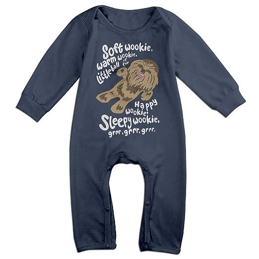 88cb932aa Amazon.com  Baby Boy Girl Bodysuit Outfits Soft Wookie Warm Wookie ...