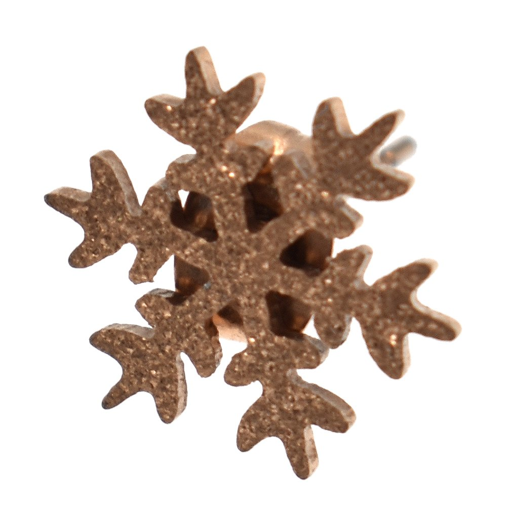 BetterUS Snowflake Rose Gold Earring Stud Women Jewelry Gift
