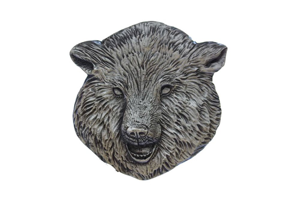 Grillie Bear-P Antiqued Pewter Finish Grille Ornament