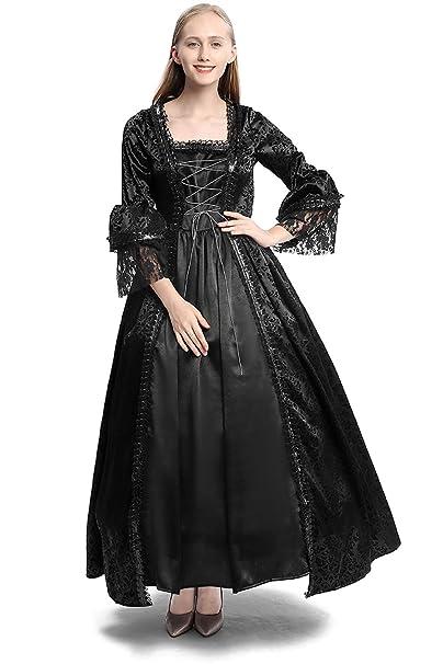 Amazon.com: Disfraz de renacimiento medieval para mujer ...
