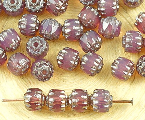 40pcs Crystal Silver Czech Glass Cathedral Faceted Fire Polished Beads Christmas