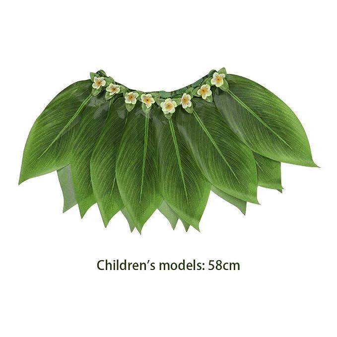 Pertrading Falda de Hula Verde para Adultos, Falda de Hoja ...