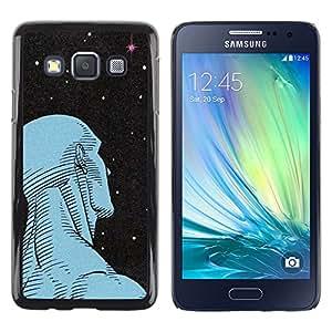Paccase / SLIM PC / Aliminium Casa Carcasa Funda Case Cover - Man Art Deco Stars Wonder Deep Ufo - Samsung Galaxy A3 SM-A300