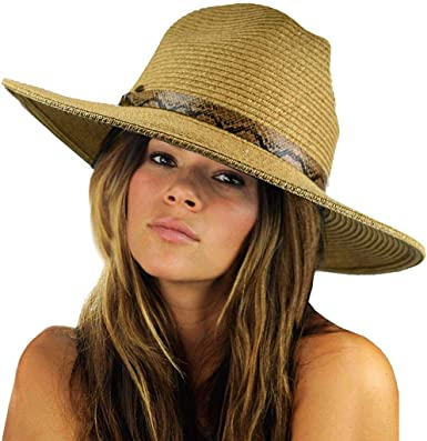 NYFASHION101 Casual Dual Color Braided Band Solid Color Panama Fedora Hat