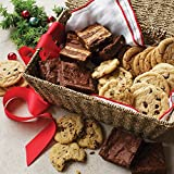 Dancing Deer Classics Award-Winning Gourmet Cookies (24) and Brownies (8) in a Seagrass Gift Basket