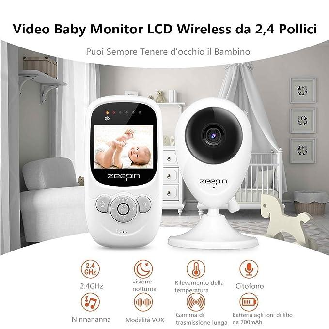 SP880 Baby Monitor Cámara Digital Inalámbrica en Tiempo Real Televisor LCD de 2.4