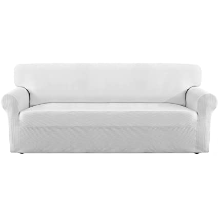 Easy-Going Thickened Stretch Slipcover, Sofa Cover, Furniture Protector with Elastic Bottom, Anti-Slip Foam, 1 Piece Couch Shield, Sturdy Fabric ...
