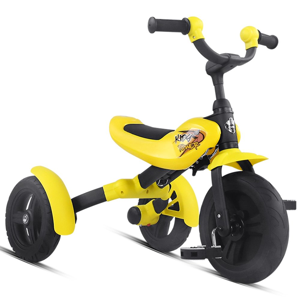 HAIZHEN マウンテンバイク 子供用三輪車折りたたみ式子供用自転車36歳の子供用折りたたみ式 新生児 B07CCK88V7イエロー いえろ゜