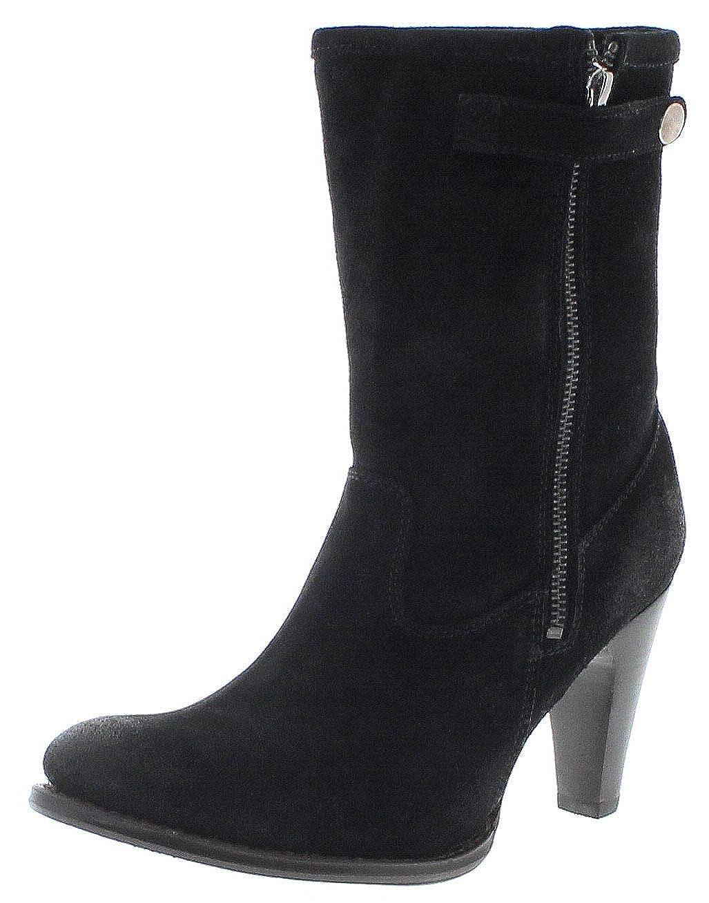 Sendra Stiefel Damen Stiefel 10603 schwarz Lederstiefel mit Lammfell
