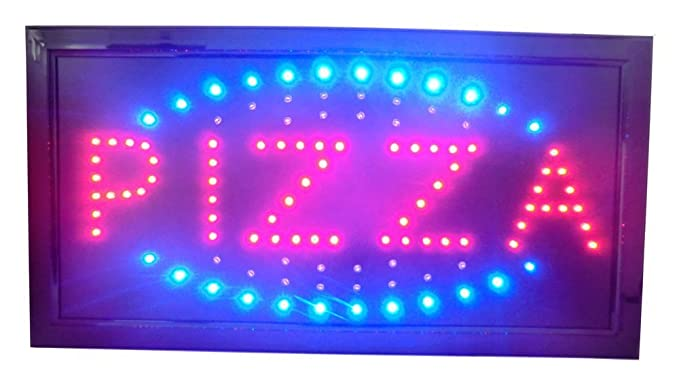 LETRERO CARTEL LUZ LUMINOSO LED - PIZZA. IDEAL PARA ...