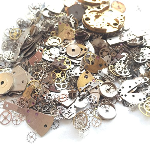Steampunk Vintage Watch - YIYATOO 50g Lot Vintage Steampunk Wrist Watch Old Parts Gears Wheels Steam Punk for Crafting