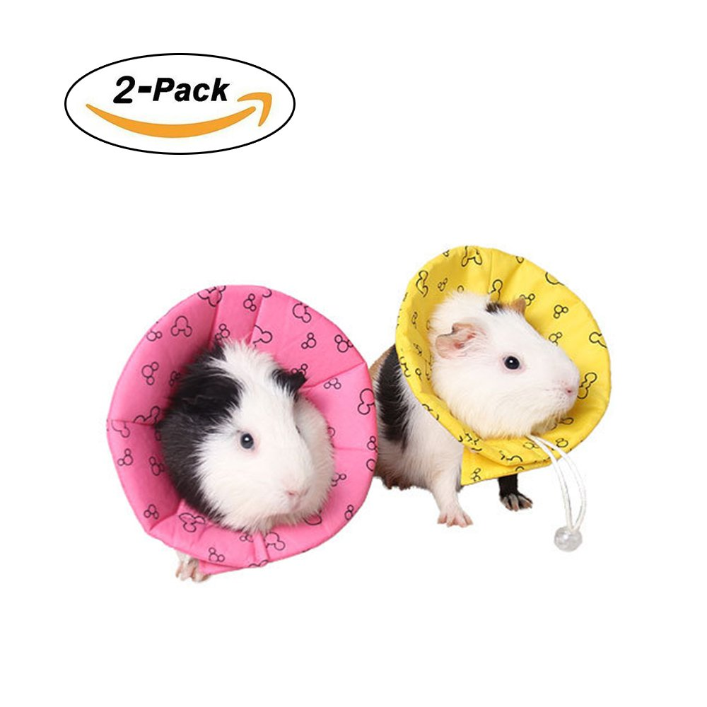 Amakunft Recovery Pet Cone E-Collar, Adjustable Neck Cover Dog Cat Cone for Small Animal Hamster, Guinea Pig, Mice, Mouse, Kitten and Rabbit (Color Random)