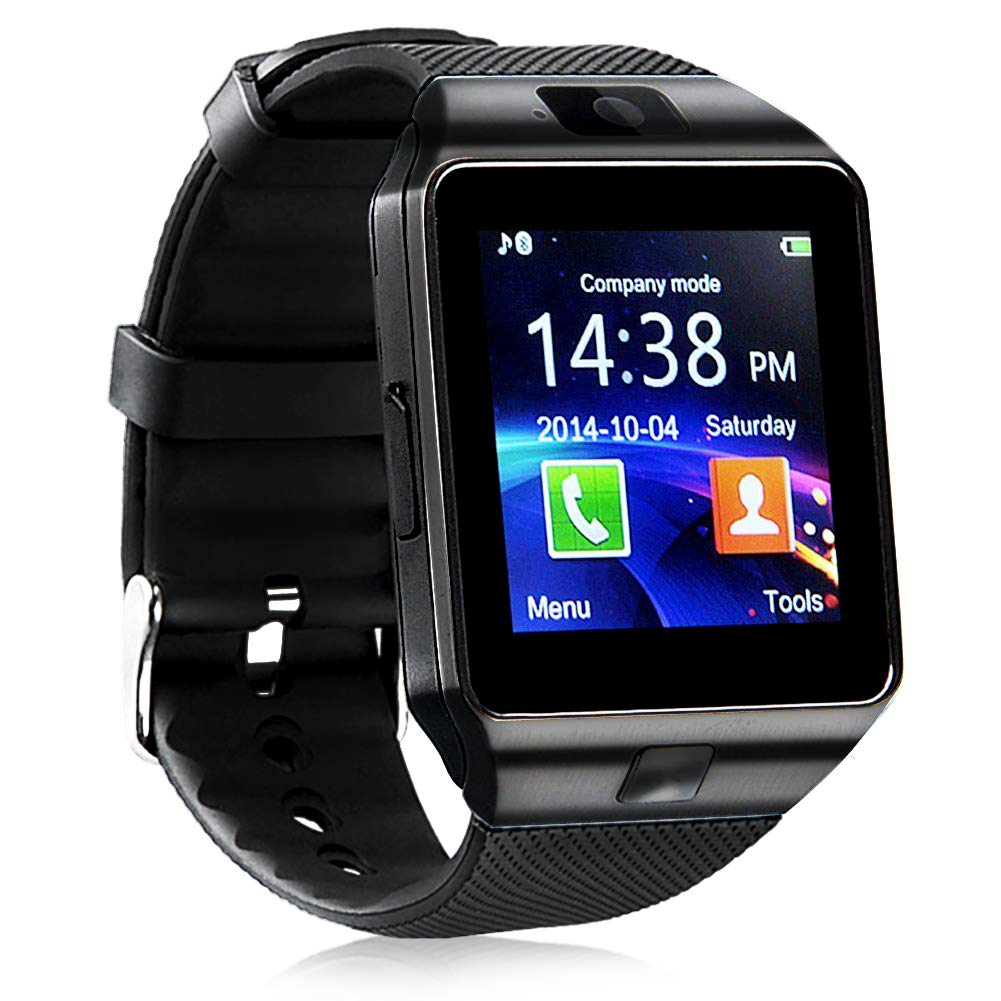 321OU Smart Watch Bluetooth Smart Watch Fitness Tracker Touchscreen iOS Android Compatible with Camera Pedometer Sleep Monitor Call/Message Music for Men Women Kids (Black) by 321OU