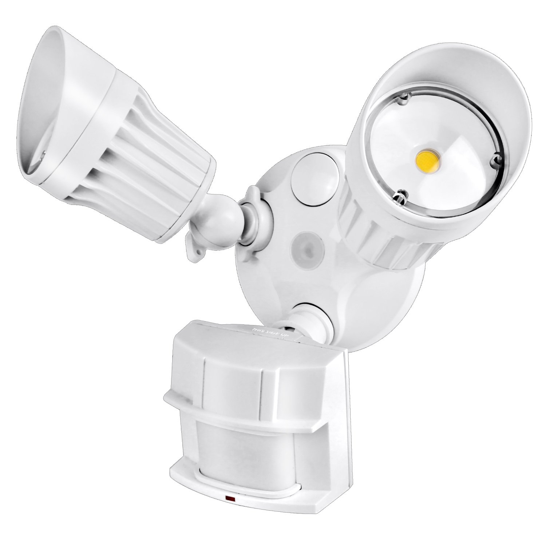 Hykolity 36W PIR Motion Detector LED Security Light, Infrared Motion Sensor 3600lm Outdoor Wall Mount Floodlight, White [250W Halogen Equivalent] 5000K Waterproof, Adjustable Dual Head