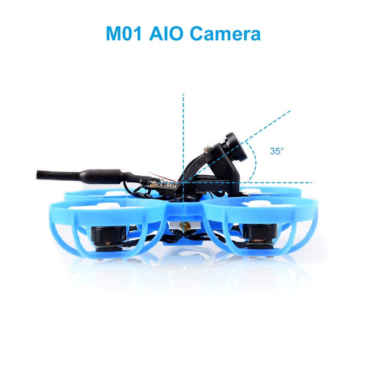 BETAFPV Meteor65 DSMX 1S Brushless Whoop Drone with BT2.0 Connector F4 1S Brushless FC V2.1 22000KV 0802 Motor for Micro Tiny Whoop FPV Racing Whoop Drone Quadcopter