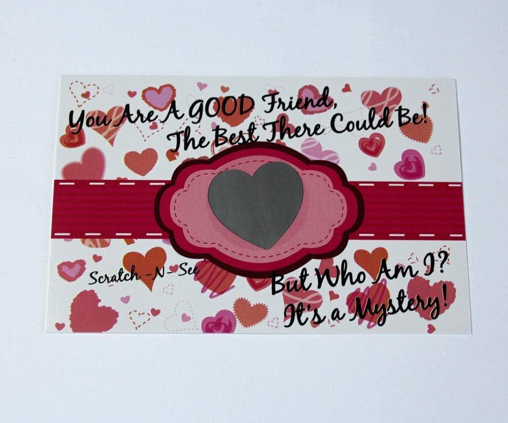 My Scratch Offs 1.5 Inch Silver Heart Scratch Off Sticker Labels 100 Pack
