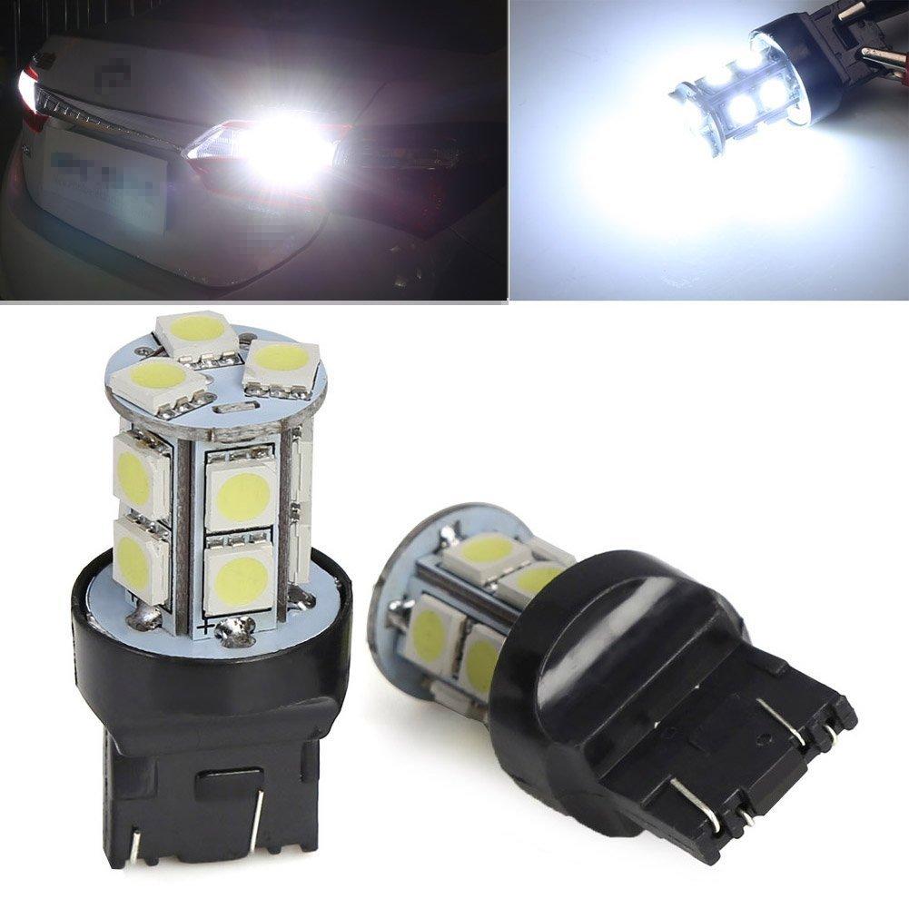 KATUR 2Pcs T20 W21/5W 7443 13 SMD 5050 LED White Car Auto Light Source Brake Parking Reverse Lamp Bulb