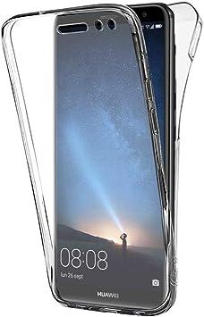 TVVT Compatible con Funda Huawei Mate 10 Lite, Ultrafino Transparente Protectora 360 Grados Integral Carcasa Ultraligero Suave Silicona TPU Bumper Case Delantera Trasera Protectora Movil: Amazon.es: Electrónica