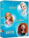 Pack: Princesas Azul (Frozen, Enredados, Brave) [DVD]