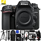 Nikon D7500 (Body Only) 16PC Accessory Bundle - Includes 64GB SD Memory Card + 72 Monopod + Full Size 72 Tripod + Professional Video Stabilizing Handle + Tripod Dolly + Sling Backpack + MORE