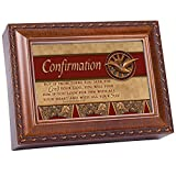 Cottage Garden Confirmation Woodgrain Music Box/Jewelry Box Plays How Great Thou Art